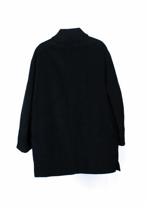 HUGO BOSS Wool Black Coat, US 42 R/EU 52 - secondfirst