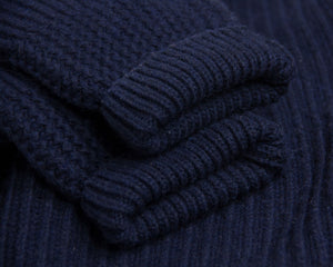 G-STA Men's Blue Chunky Wool Cardigan, XL - secondfirst