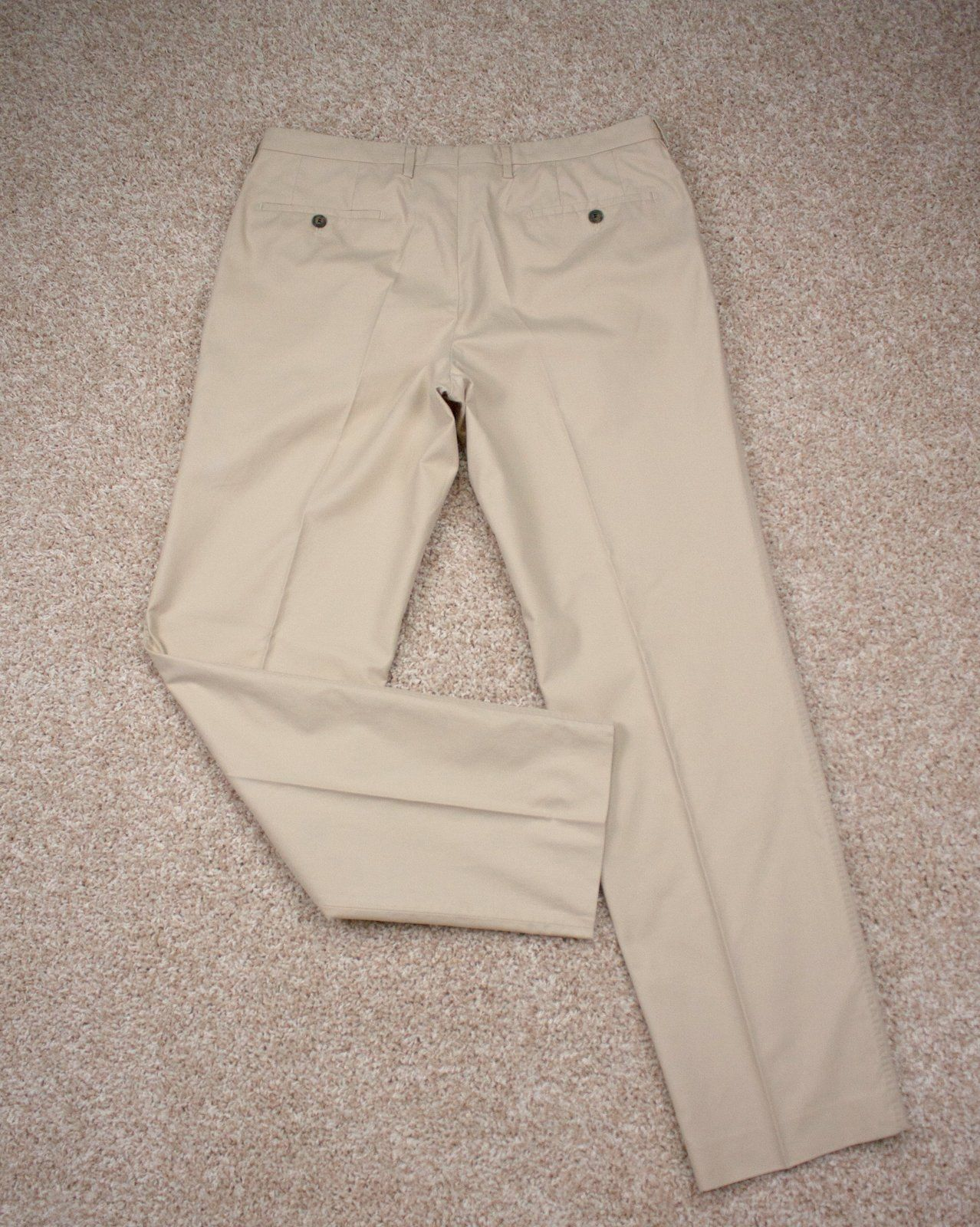 HUGO BOSS men's khaki flat front pants,  US 36R/EU 52 - secondfirst