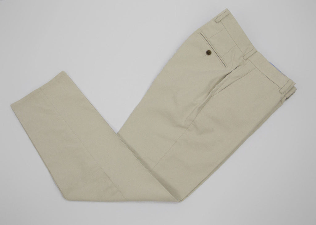 HACKETT Soft Cotton Flat Front Tailored Pants SIZE USA 34, EU 50 - secondfirst