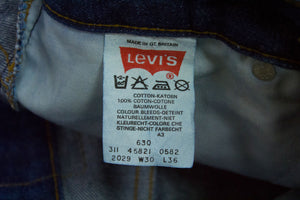 LEVI'S 630 Vintage Orange Tab Straight Leg Jeans SIZE 27/35 - secondfirst