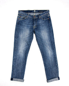 7 For All Mankind Skinny Boyfriend Style Jeans, SIZE 25 - secondfirst