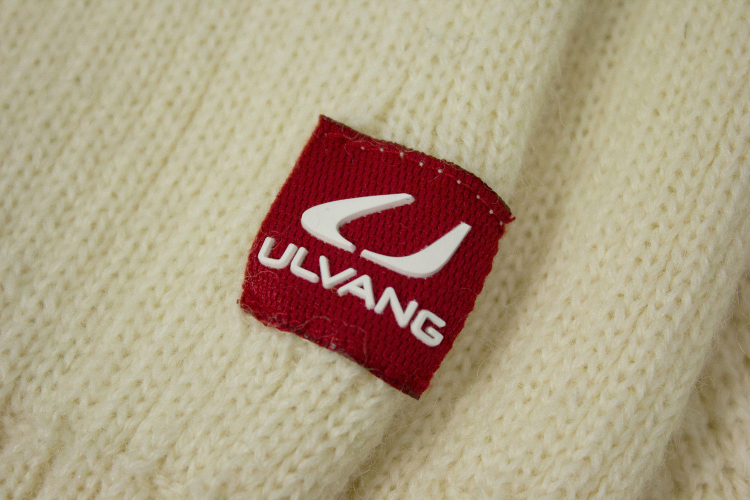 ULVANG Wool Zip Neck White Unisex Sweater Ski Jumper, M - secondfirst