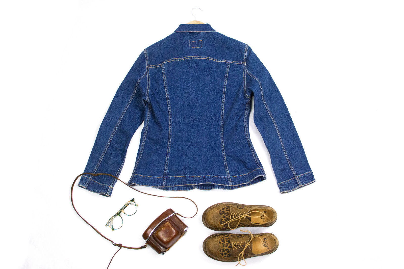 LEVI'S  Women's Slim Fit Tailored Blue Denim Jacket, SIZE S - secondfirst