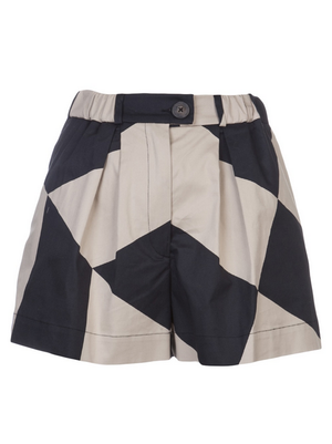 "Vivienne Westwood Anglomania Cotton Pleated ""MAZE"" Shorts SIZE M - secondfirst"