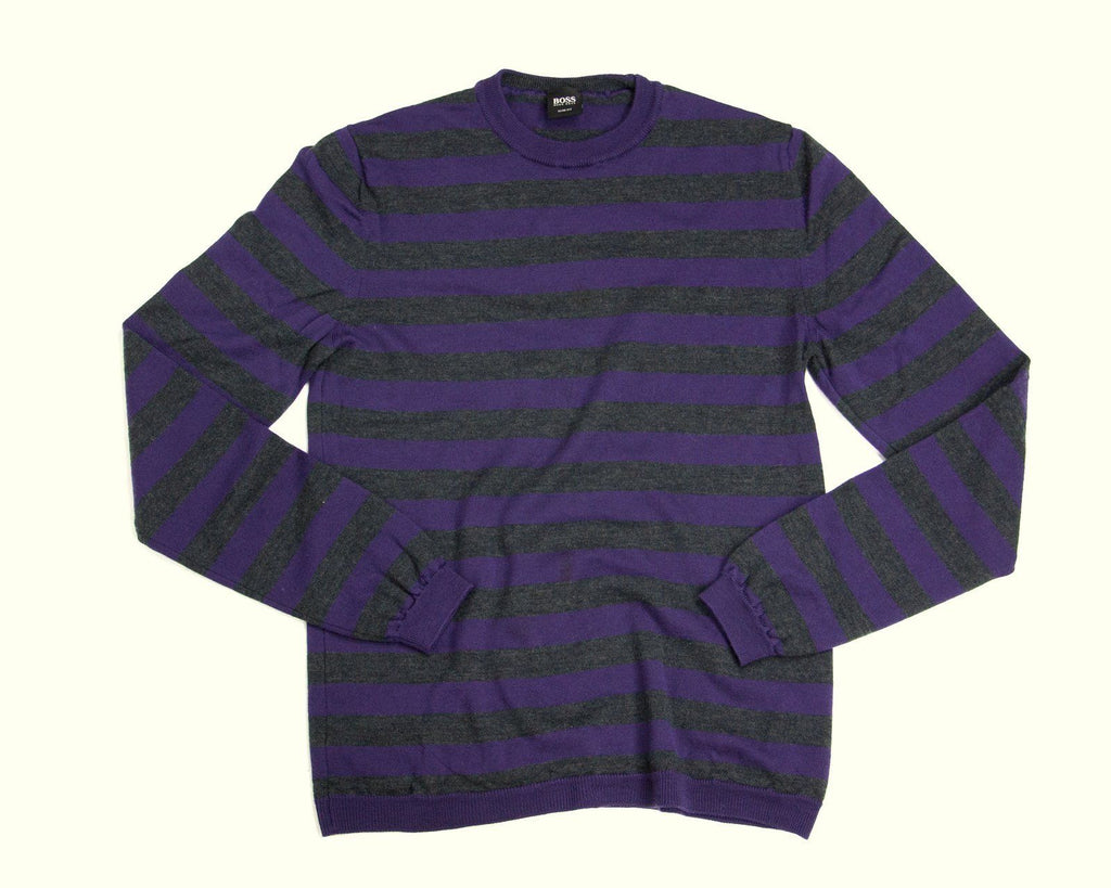 HUGO BOSS men's Wool Thin Crew neck sweater/jumper SIZE S - secondfirst