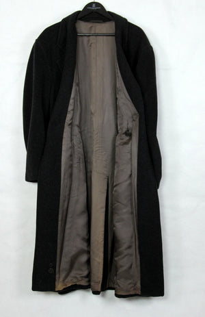HUGO BOSS Double Breasted Gray Wool Overcoat, US 44R/EU 54 - secondfirst
