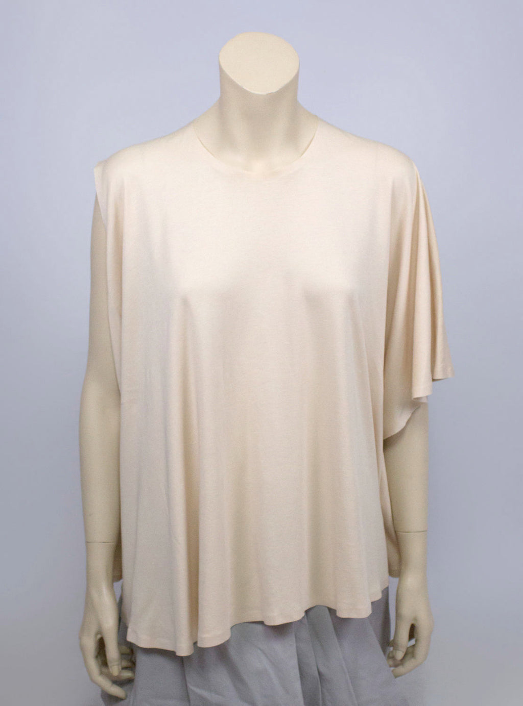 MAISON MARTIN MARGIELA  Nude Cotton Draped Sleeve Blouse, L - secondfirst