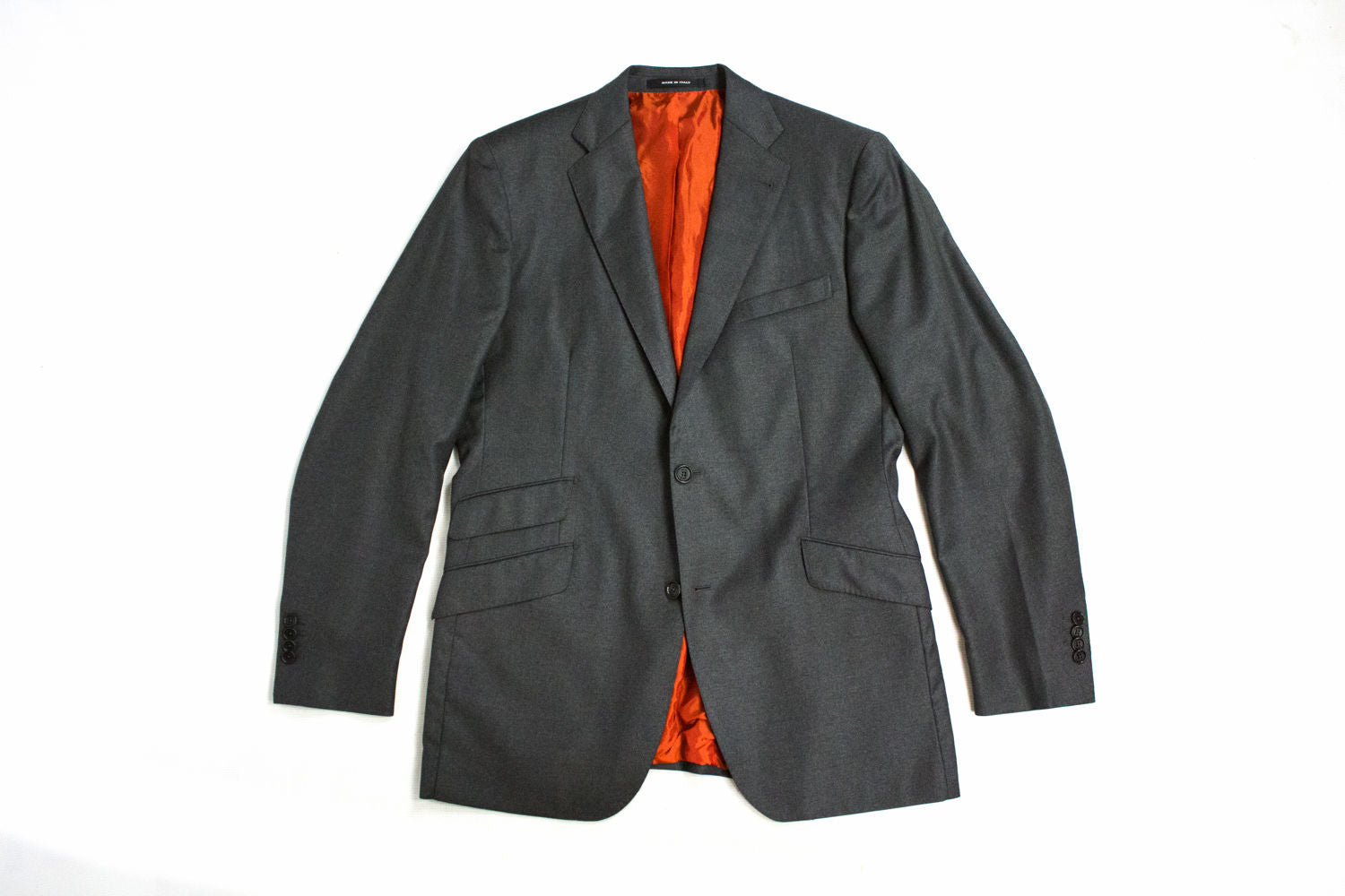 Rose & Born Loro Piana Wool Gray Blazer Jacket, US 40L, EU 50L - secondfirst