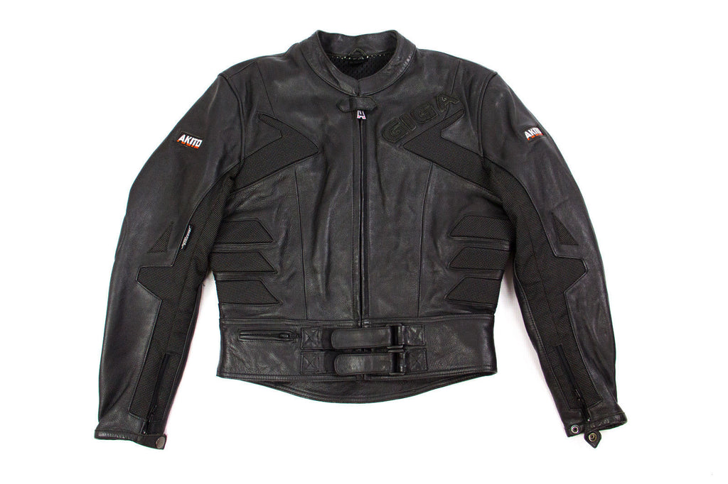 AKITO Motorcycle Leather Biker Jacket, L - EU 40, US 10, UK 12 - second_first