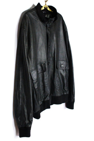 Supper Soft Leather Bomber Style Jacket SIZE XXL - secondfirst