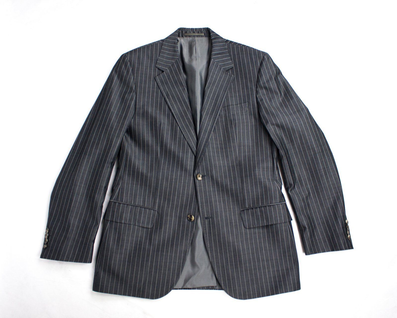 HUGO BOSS Wool-Cotton Striped Blazer. US,UK 40R/EU 50 - secondfirst