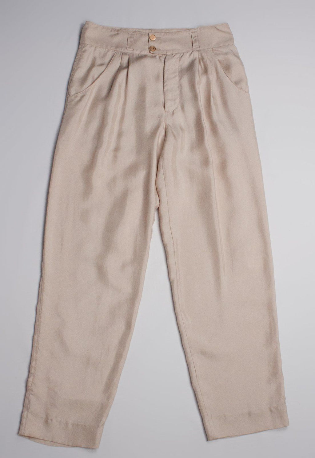 MISSONI Women's 100% Silk Nude Pink Pants SIZE US 6 - secondfirst