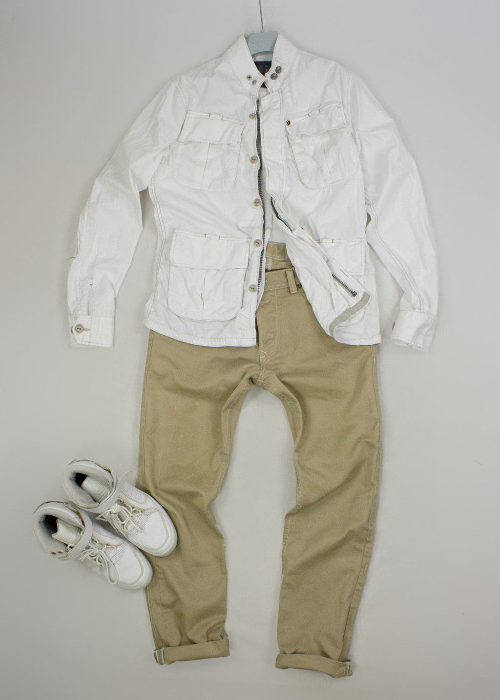 G-STAR RAW Navigator Delta Shirt White Jacket, L - secondfirst