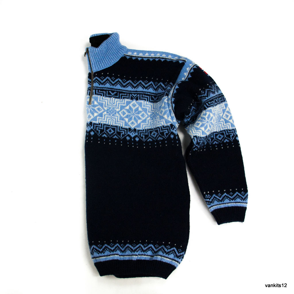 ASA GJESTAL NORDIC WOOL BLUE SWEATER, L - secondfirst