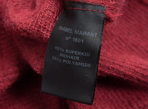 ISABEL MARANT Superkid Mohair Blend Brick Red Thin Jumper SIZE S - secondfirst