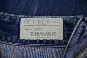 DIESEL THAVAR SLIM SKINNY TAPERED JEANS, W33/L32 - secondfirst