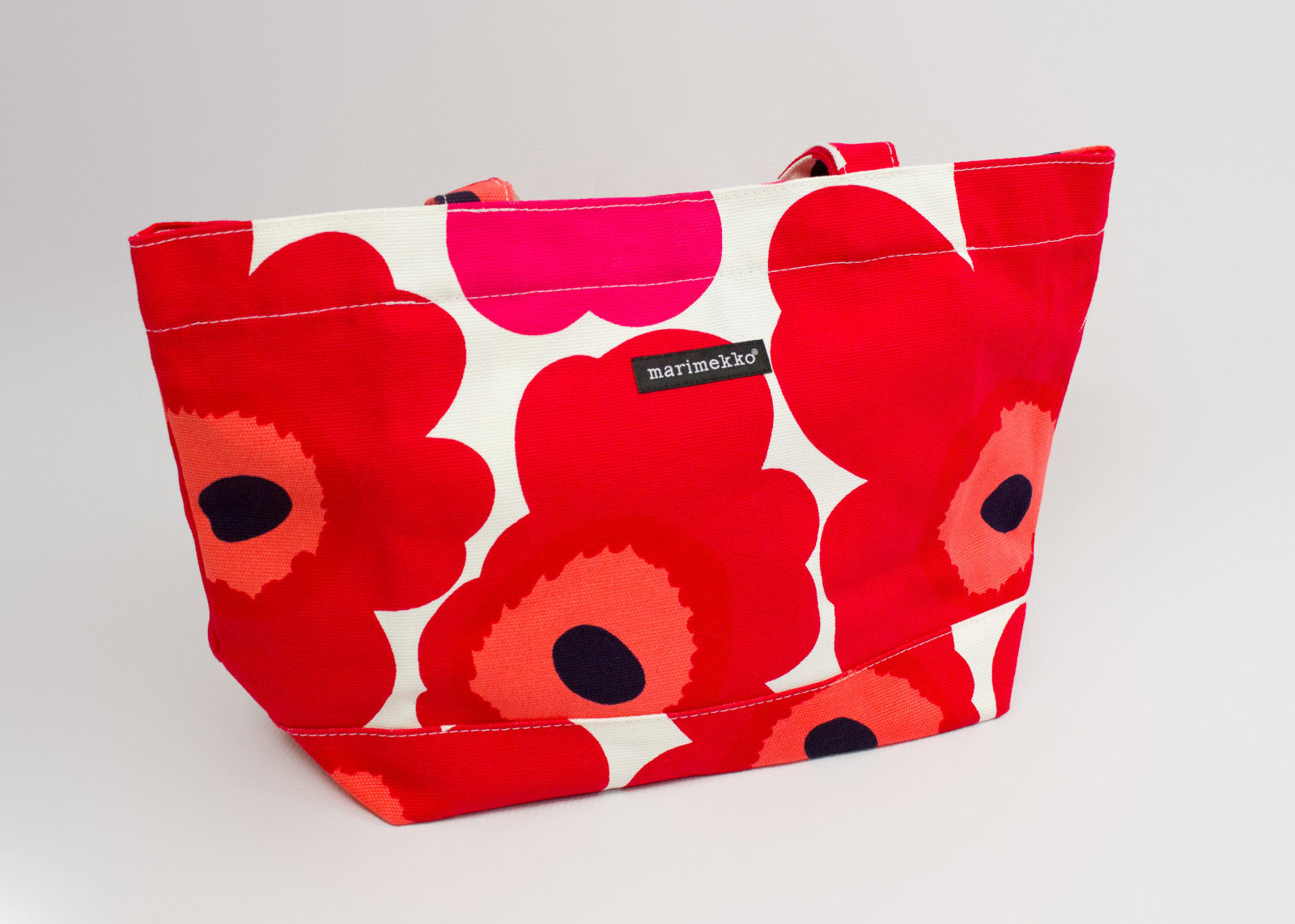MARIMEKKO Pieni Unikko Red Floral Japan Tote Bag - secondfirst