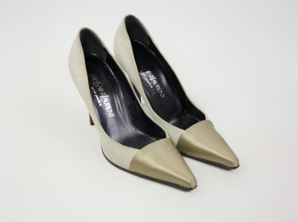 YVES SAINT LAURENT Pointed Stiletto Heel Pumps, EU 37, US 7, UK 4 - secondfirst