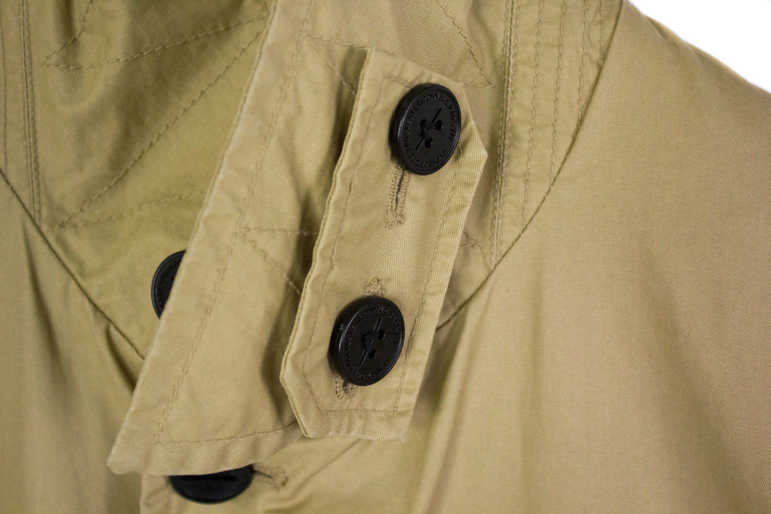 J.C. RAGS Men's Cotton Khaki Trench Coat, SIZE M - secondfirst