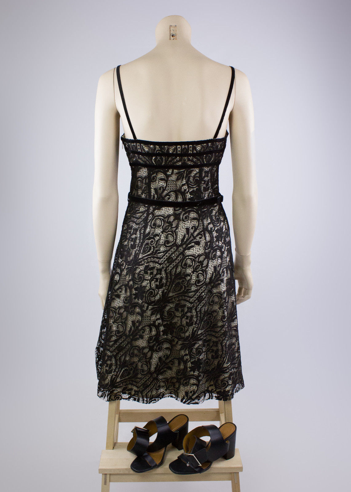 GALLIANO Black Lace Dress Size USA 6 - second_first