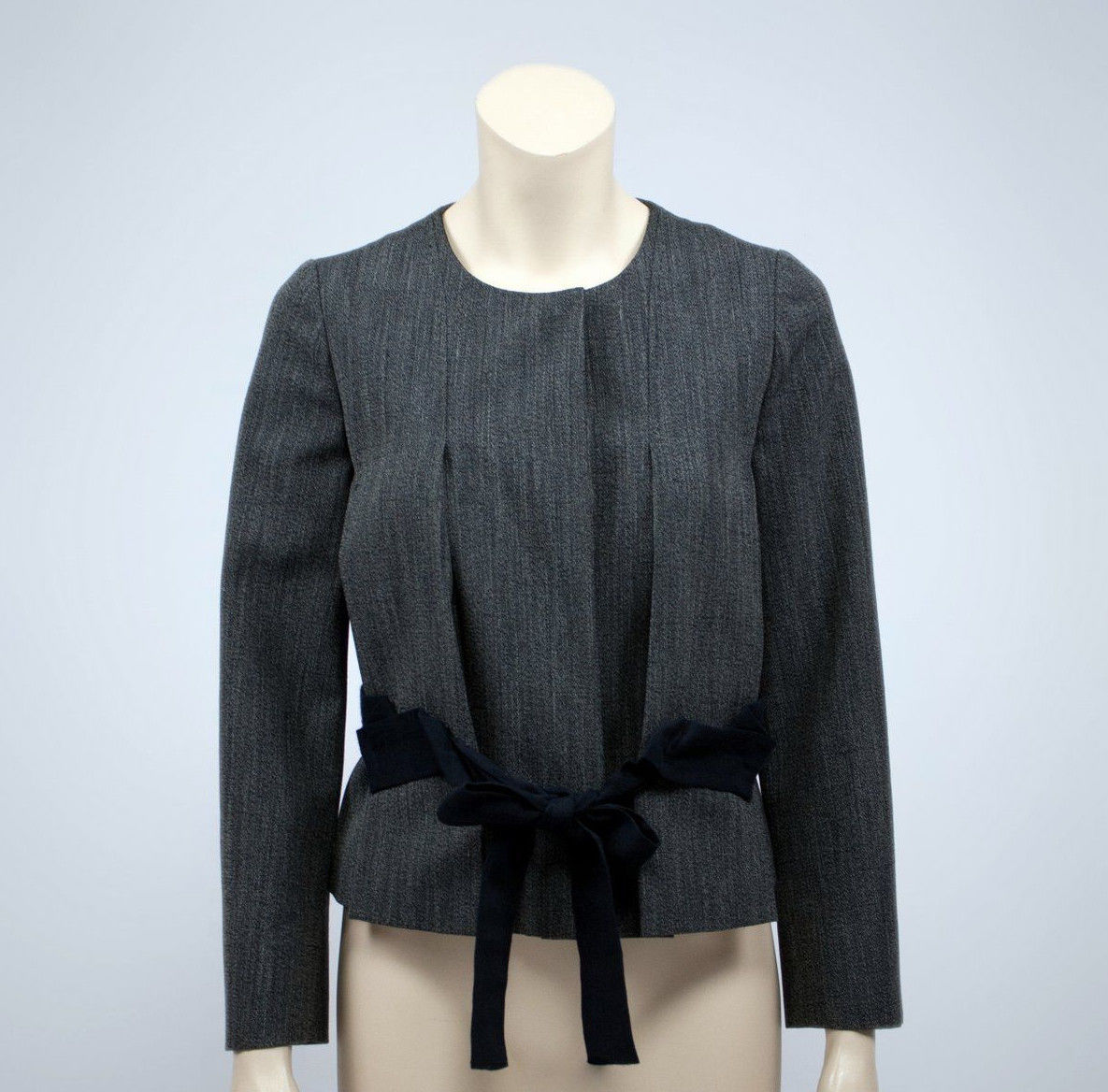MARNI Silk Linen Mohair Pleated Belted Blazer, I 38, US2, UK6 - secondfirst