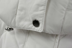 Piazza Italia White Quilted Down Belted Parka Coat, S - secondfirst