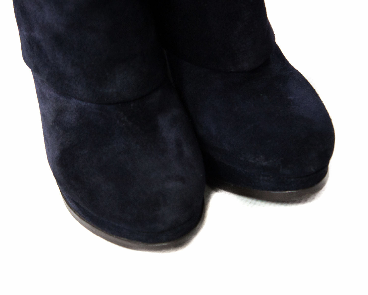 ASH Fold Over Suede Ankle Booties Heels, EU 36/UK 3.5/US 6 - secondfirst