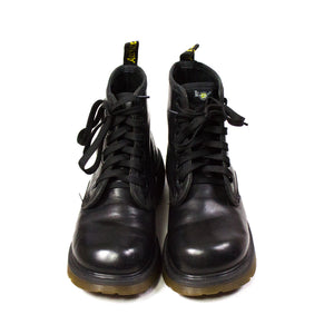 DR. MARTENS Black Leather 6 Eyelets Boots, EU 36, US 6, UK 3.5 - secondfirst