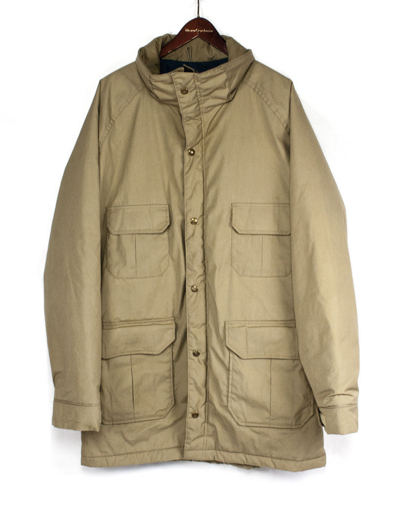 WOOLRICH men's TAN Brown LONG PARKA, SIZE L - secondfirst