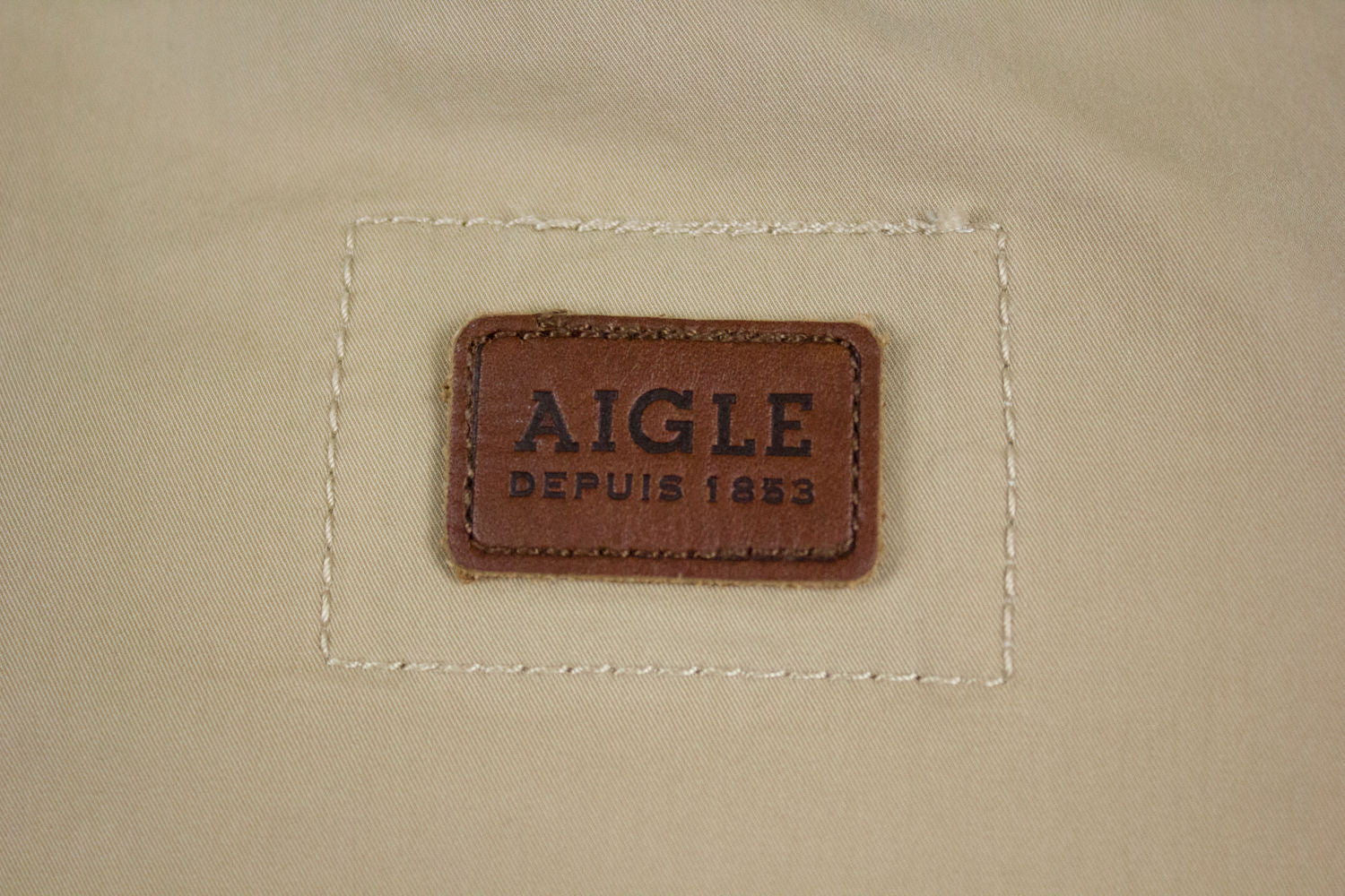 AIGLE Safari Jacket with Leather details, SIZE US 12 - secondfirst