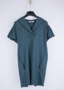 JIL SANDER Dark Green 100% Wool Tunic Dress Size US 6 - secondfirst