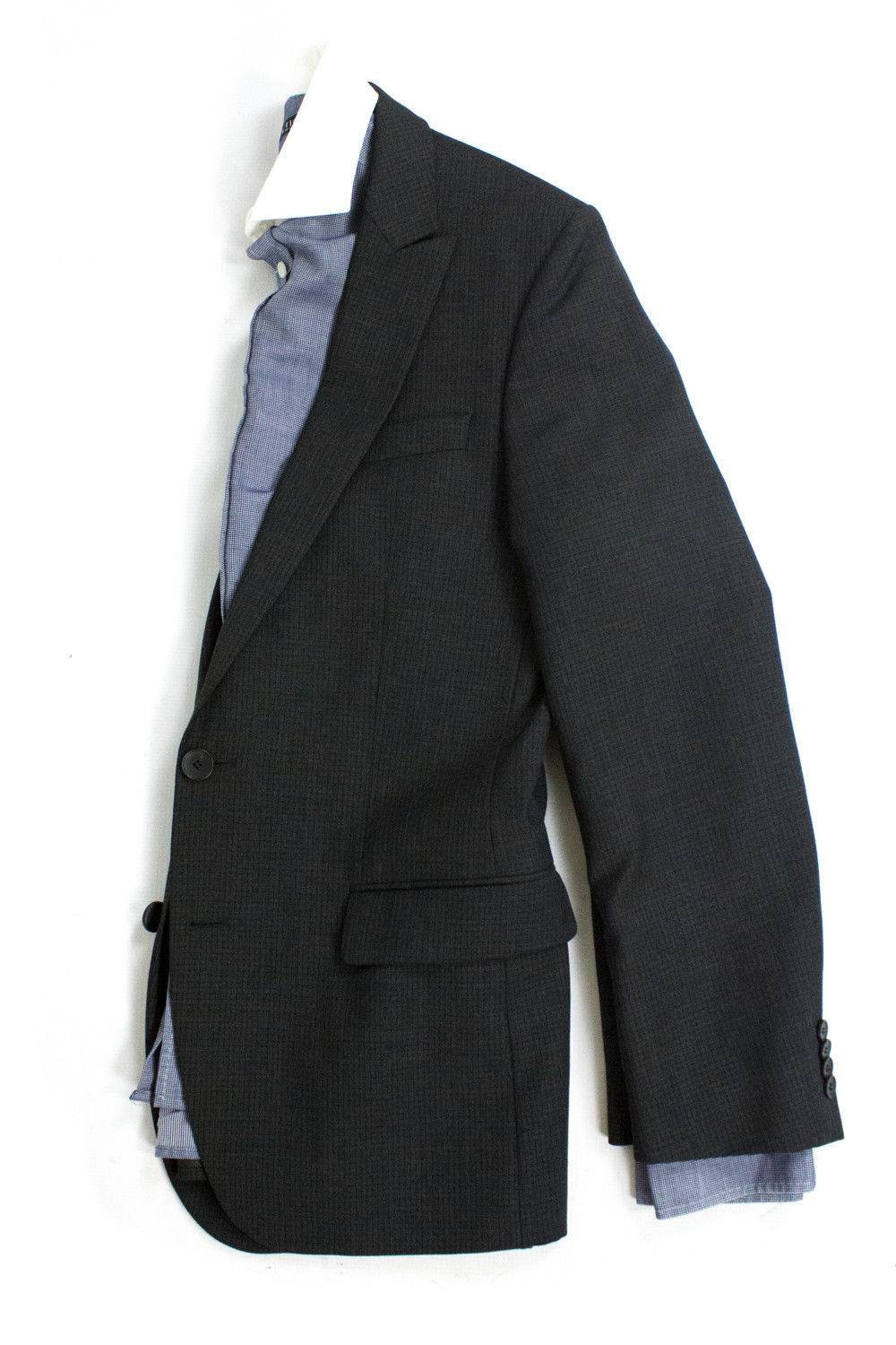 HUGO BOSS Abous/Heise 100% Wool Gray Blazer Jacket, US 36R, EU46 - secondfirst