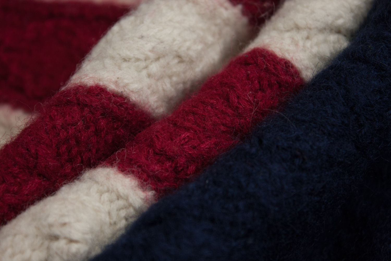 GANT vintage men's USA Flag Pattern Crew Neck 100% Wool Jumper Sweater, SIZE S - secondfirst