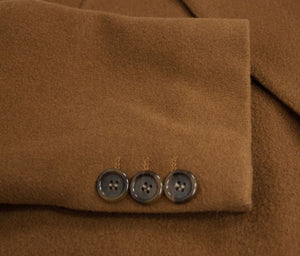 Men's Camel Brown Double Breasted 100% Wool Overcoat, US42-44 - second_first