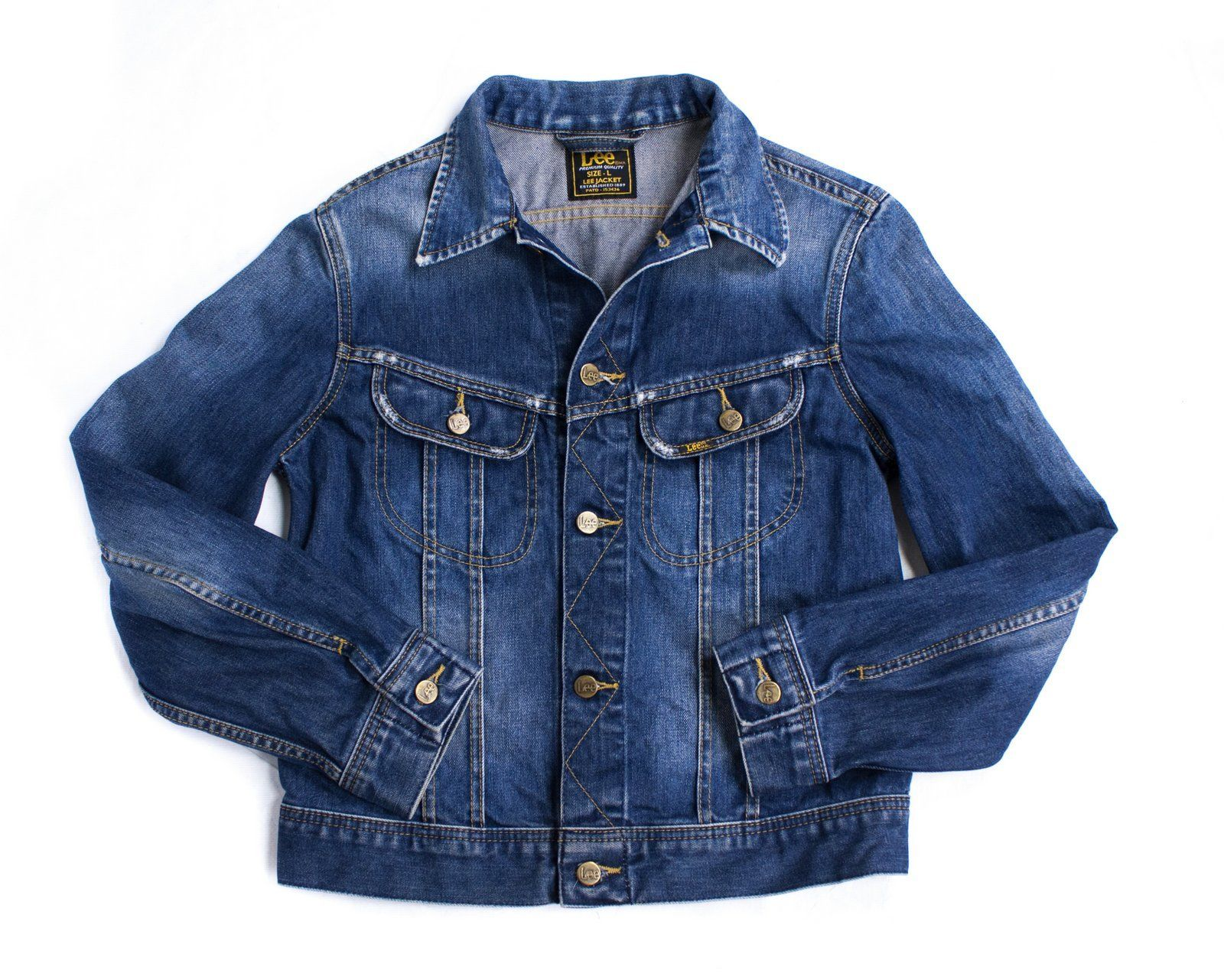 LEE women's Classic Trucker Denim Jacket SIZE L - secondfirst