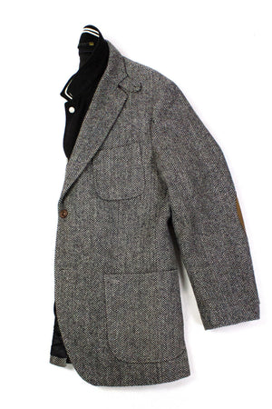 SCOTCH & SODA Tweed Sport Coat with Leather Elbow Patches, XL US 42R - secondfirst