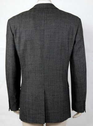 HUGO BOSS GRAY WOOL BLAZER, US 40L/EUR 98 - secondfirst