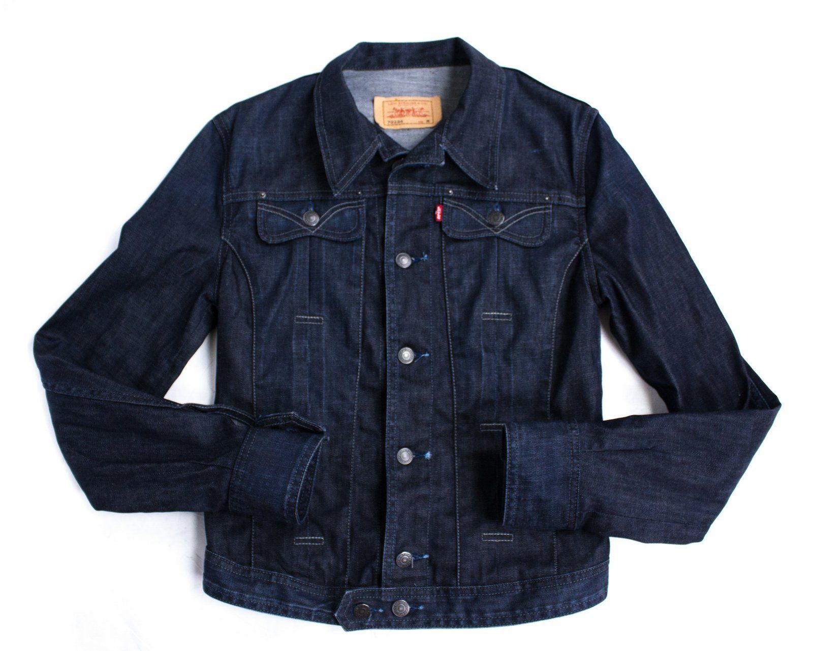 LEVI'S women's INDIGO BLUE DENIM Not Big E JACKET, SIZE M - secondfirst