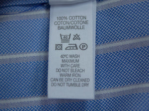 PAUL SMITH Men's Striped Blue Slim Fit Shirt SIZE 16 41 - secondfirst