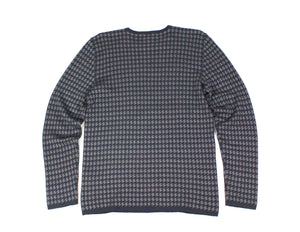 ARMANI COLLEZIONI Wool Houndstooth Jumper Sweater, XL - secondfirst