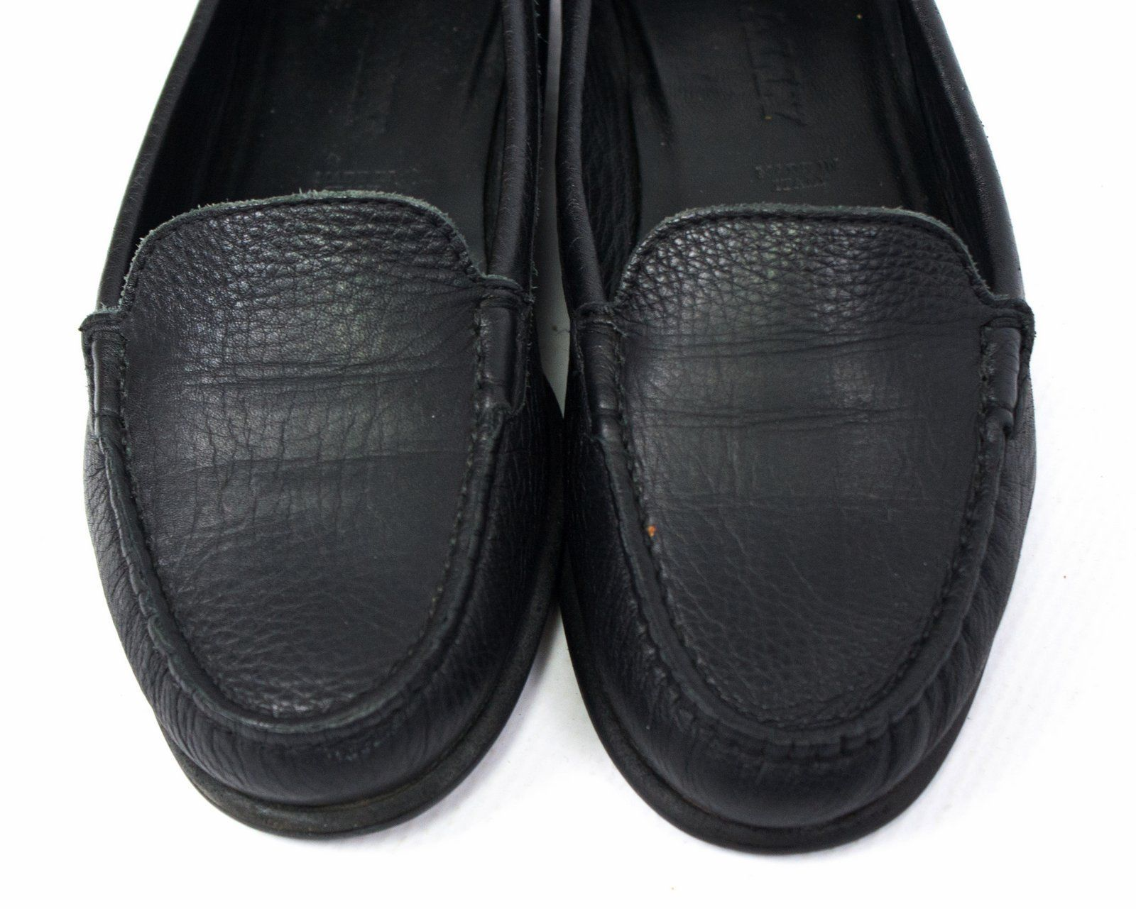 BALLY women's Black Leather Loafers, EU 37/ US 6.5/ UK 4 - secondfirst