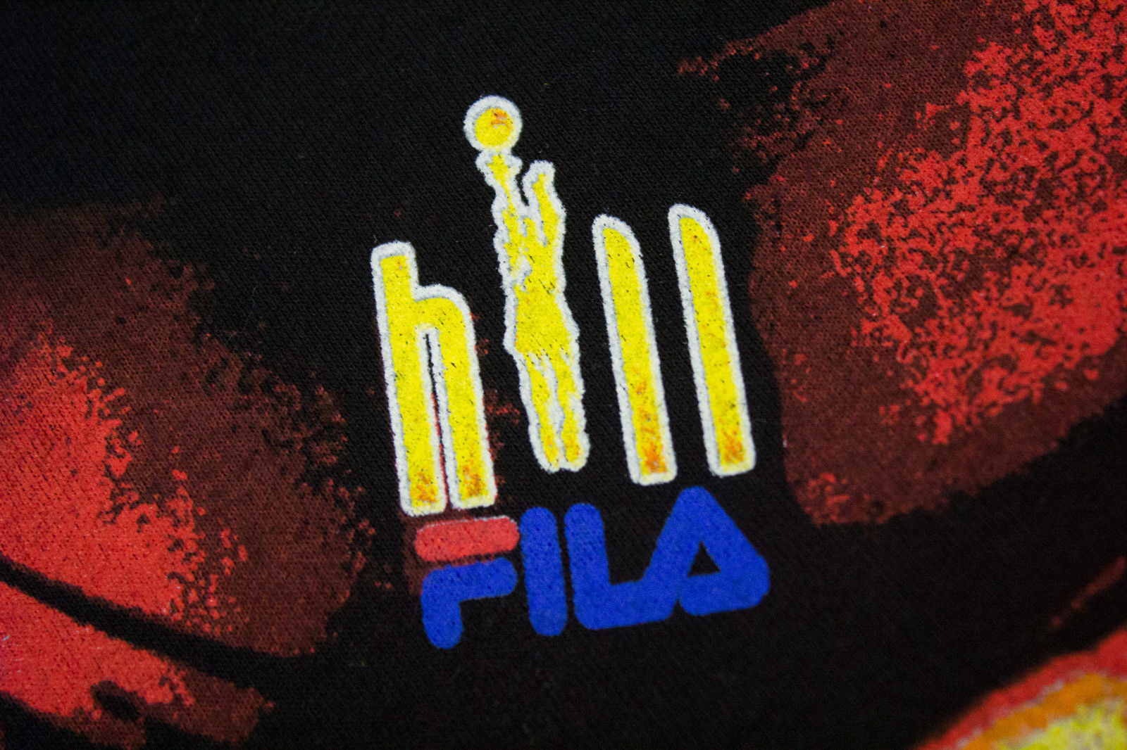 FILA Vintage GRANT HILL Black Cotton T-shirt, XL - secondfirst