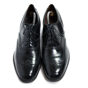 BARKER Westfield Black Leather Wingtip Oxford Shoes UK 11.5 E, US 12.5, EU 45.5 - secondfirst
