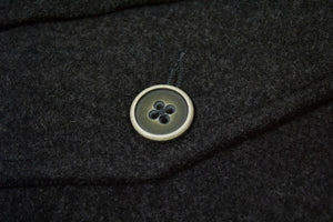 KENZO Soft Melton Wool Unlined Gray Coat, SIZE L - secondfirst