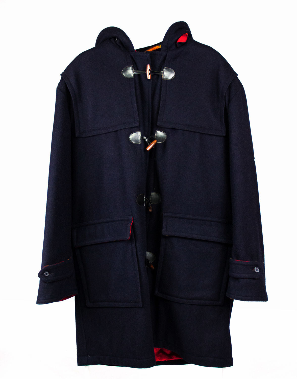 IVY OXFORD Navy Blue Wool Duffle Coat USA 42, EUR 52 - second_first