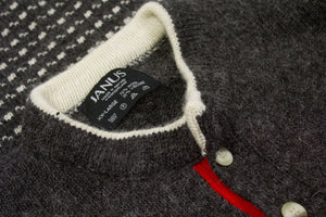 JANUS WOOL GRAY NORDIC SWEATER, XXL - secondfirst