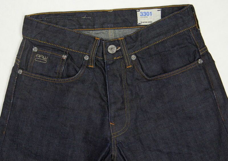G-STAR RAW 3301 STRAIGHT DRY DENIM JEANS, 28/30 - secondfirst