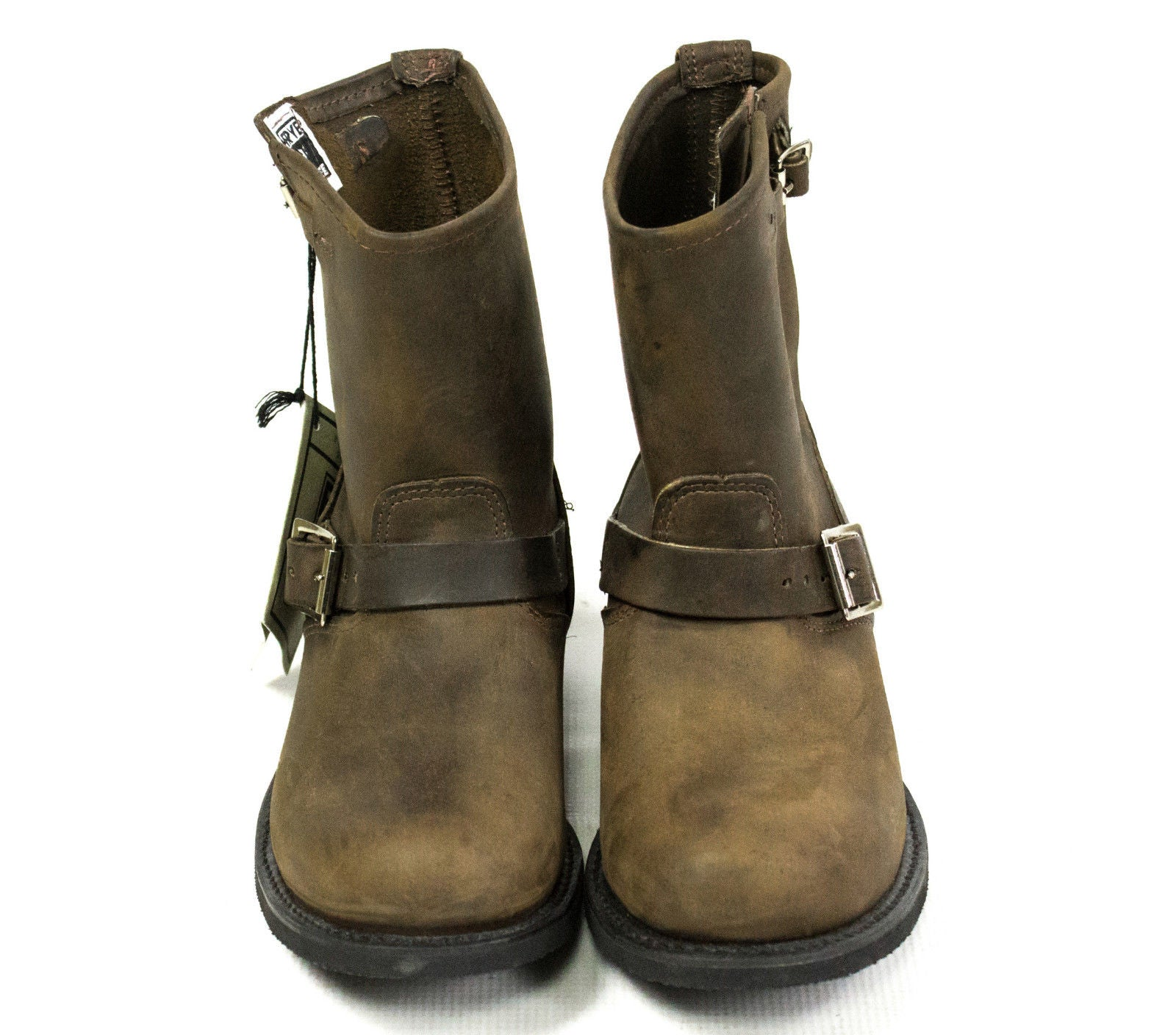 FRYE Engineer 8R Heritage Gaucho Leather Boots USA SIZE: Left 10, Right 9.5 - secondfirst