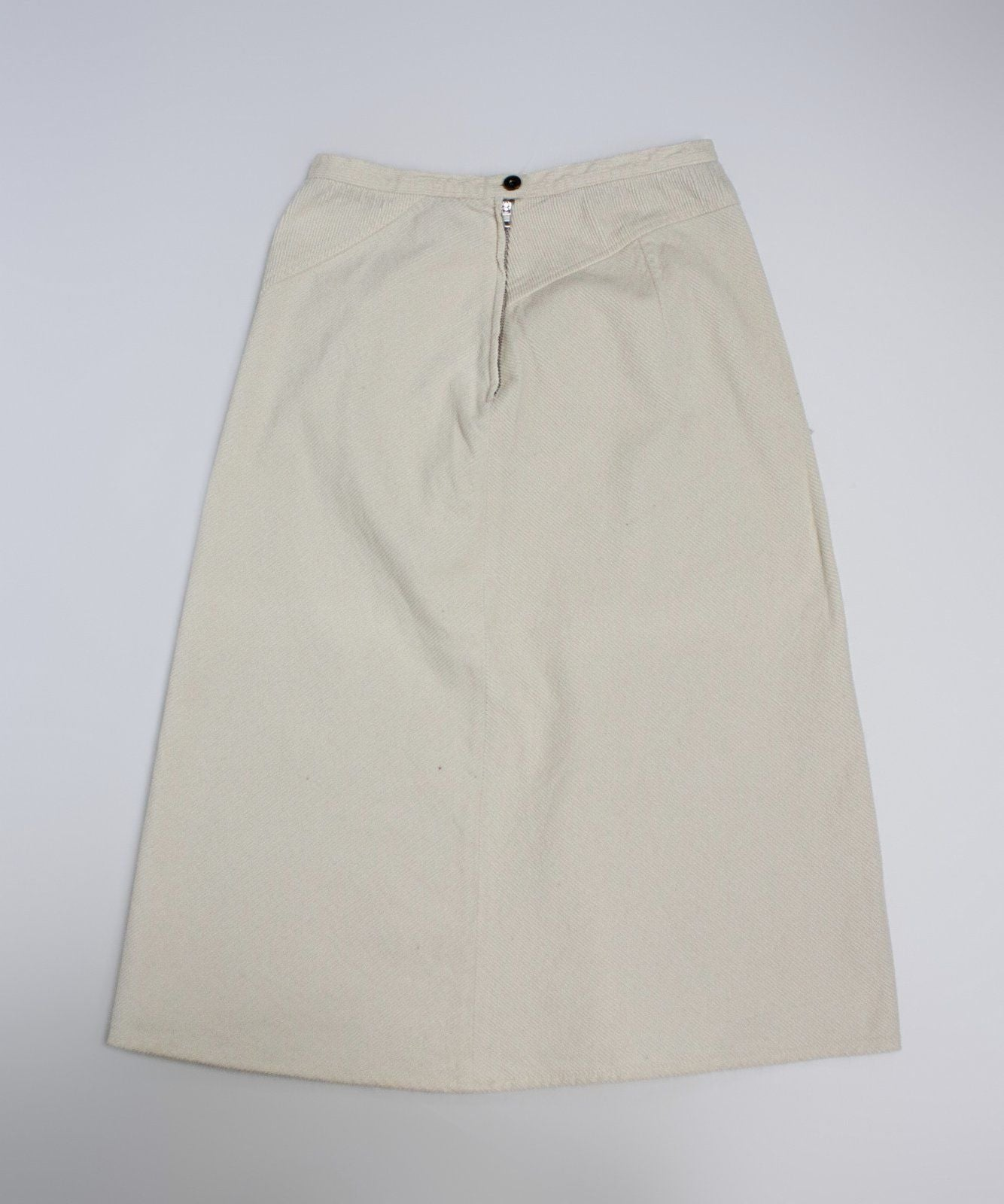MAX MARA Weekend Cream White Corduroy A-line Skirt US 6/UK8/EU 36 - secondfirst